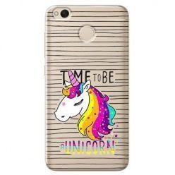 Etui na Xiaomi Redmi 4X - time to be unicorn - Jednorożec.
