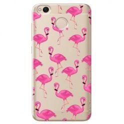 Etui na Xiaomi Redmi 4X - różowe flamingi.