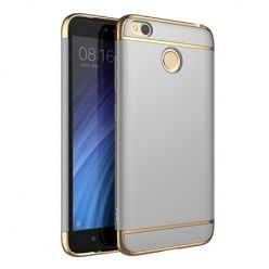 Etui na telefon Xiomi Redmi 4X - Slim MattE Platynowane - Srebrny.