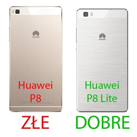 Etui na telefon Huawei P8 Lite - Slim MattE - Czarny.