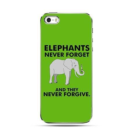 Etui Elephants never forget
