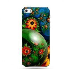 Etui na telefon kwiatowy abstrakt.
