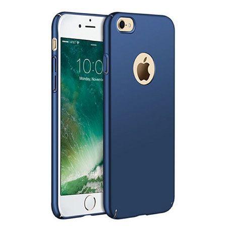 Etui na telefon iPhone 8 - Slim MattE - Granatowy.