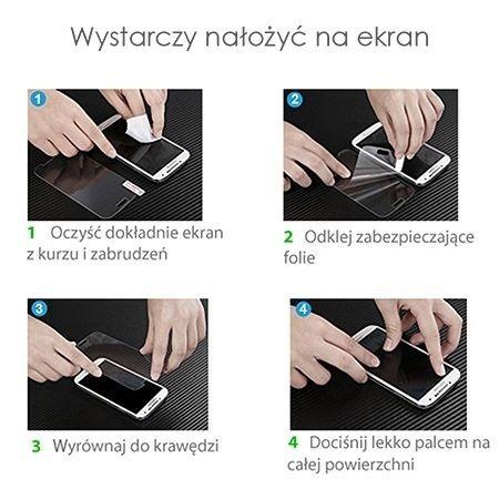 Hartowane szkło na cały ekran 3d Galaxy S8 - Niebieski.