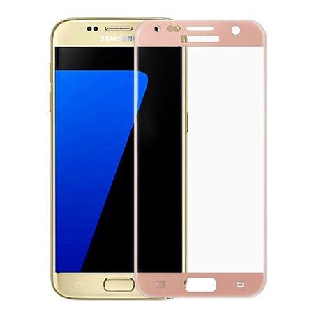 Hartowane szkło na cały ekran 3d Galaxy S7 - Różowy.