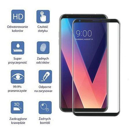 LG V30 - hartowane szkło 3D na cały ekran - Czarny.