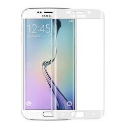 Galaxy S6 Edge Plus - hartowane szkło 3D na cały ekran - Biały.