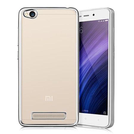 Etui na Xiaomi Redmi 4A - platynowane  SLIM tpu - Srebrny.