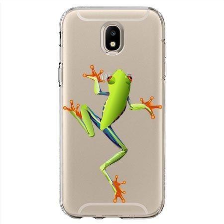 Etui na Samsung Galaxy J7 2017 - zielona żabka.