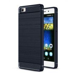 Etui na Huawei P8 Lite - bumper Neo CARBON - Granatowy.