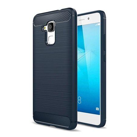 Etui na Huawei Honor 7 Lite - bumper Neo CARBON - Granatowy.