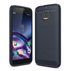 Etui na Motorola Moto G5s Plus - bumper Neo CARBON - Granatowy.
