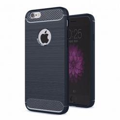 Etui na iPhone 7 - bumper Neo CARBON - Granatowy.
