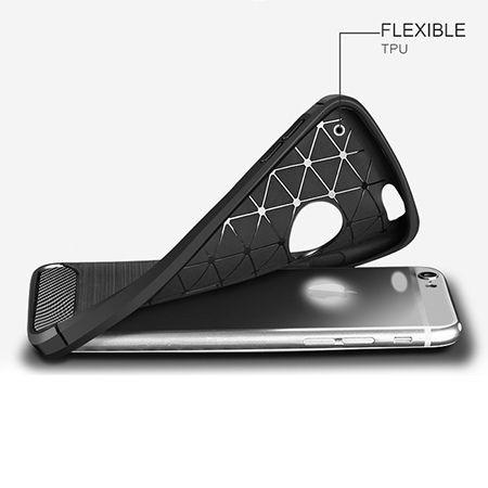 Etui na iPhone 7 - bumper Neo CARBON - Czarny.