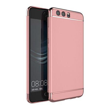 Etui na telefon Huawei P10 - Slim MattE Platynowane - Różowy.