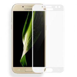 Galaxy J7 2017 - hartowane szkło 3D na cały ekran - Biały.