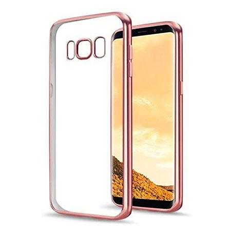 Etui na Samsung Galaxy S8 - silikonowe platynowane SLIM - Różowy.
