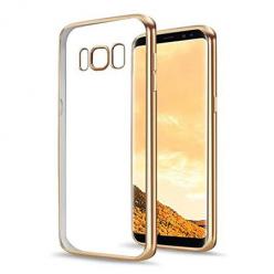 Etui na Samsung Galaxy S8 Plus - silikonowe platynowane SLIM - Złoty.
