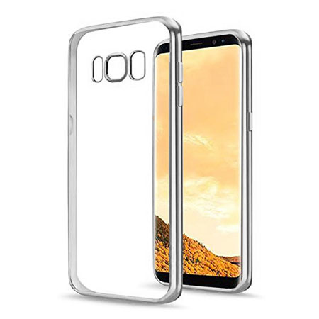 Etui na Samsung Galaxy S8 Plus - silikonowe platynowane SLIM - Srebrny.