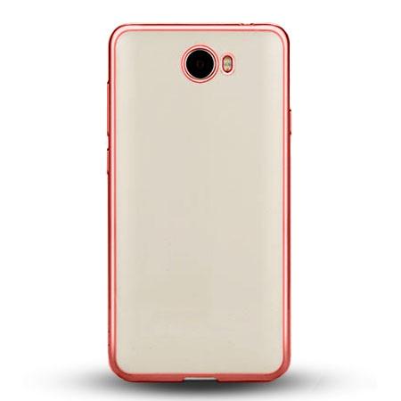 Etui na Huawei Y5 II - silikonowe platynowane SLIM - Różowy.