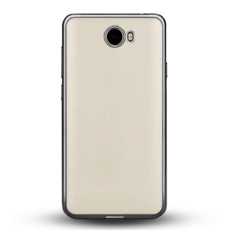 Etui na Huawei Y5 II - silikonowe platynowane SLIM - Grafitowy.