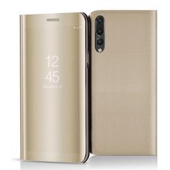 Etui na Huawei P20 Pro - Flip Clear View z klapką - Złoty.