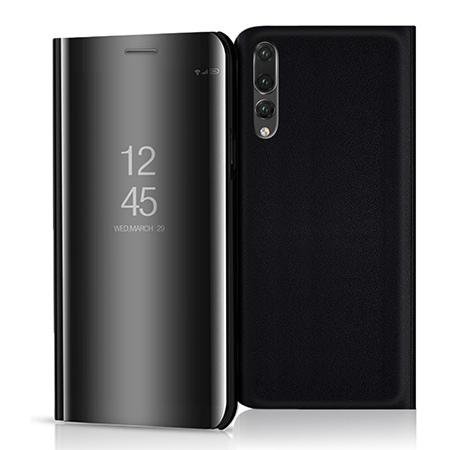 Etui na Huawei P20 Pro - Flip Clear View z klapką - Czarny.