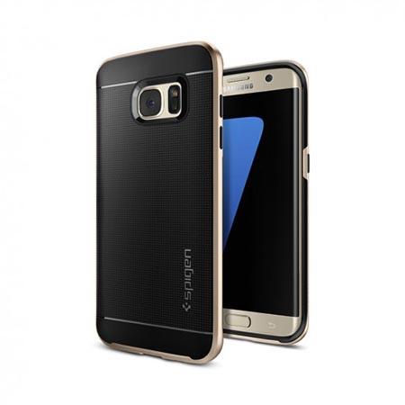 Etui Spigen na Samsung Galaxy S7 Edge Neo Hybrid - Złoty