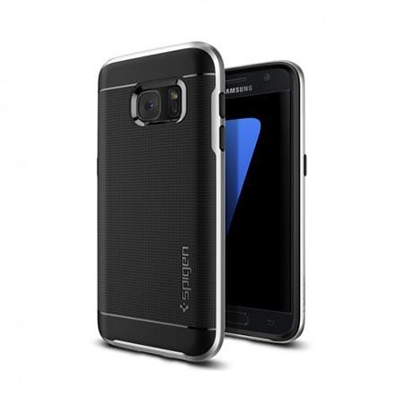 Etui Spigen na Samsung Galaxy S7 Neo Hybrid - Srebrny
