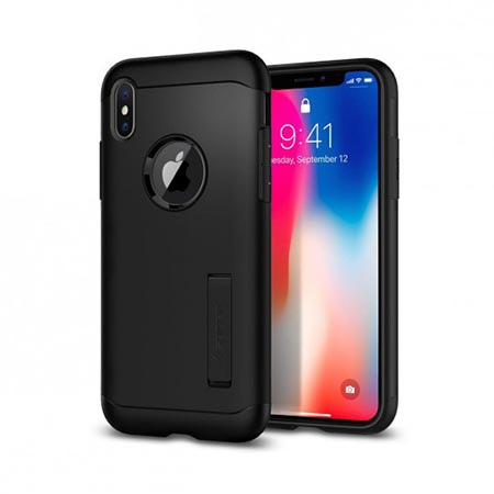 Etui Spigen na iPhone X - Tough Armor Czarny