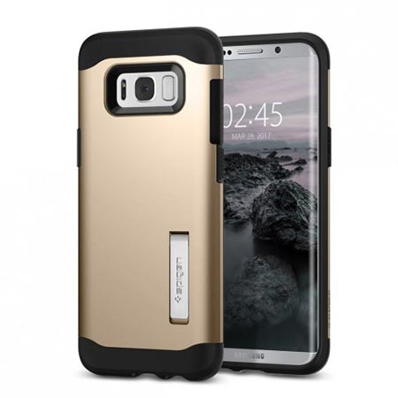 Etui Spigen na Samsung Galaxy S8 Plus - Tough Armor Złoty