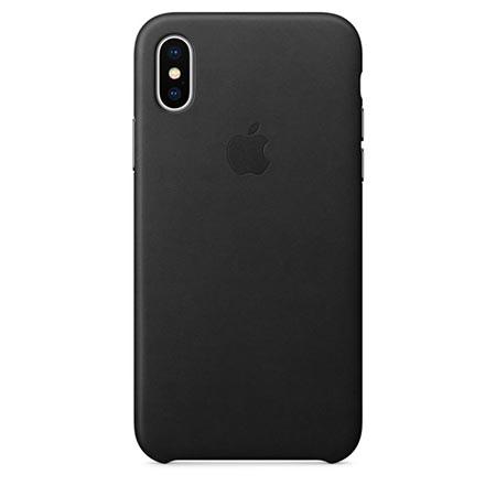Oryginalne etui Apple na iPhone X Leather Case - Skórzane Czarny