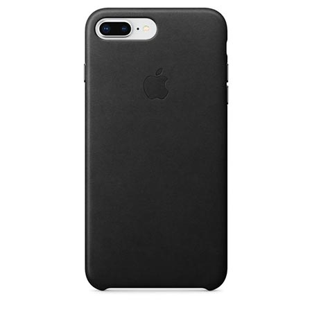 Oryginalne etui Apple na iPhone 8 Plus Leather Case - Skórzane Czarny