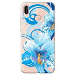 Etui na Huawei P20 Lite - Niebieski kwiat północy.