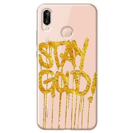 Etui na Huawei P20 Lite - Stay Gold.
