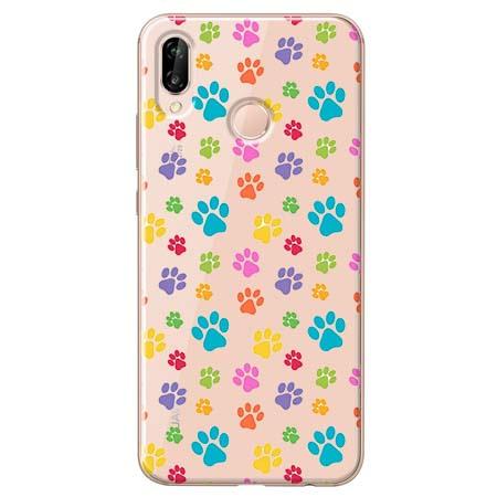 Etui na Huawei P20 Lite - Kolorowe psie łapki