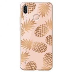 Etui na Huawei P20 Lite - Złote ananasy.