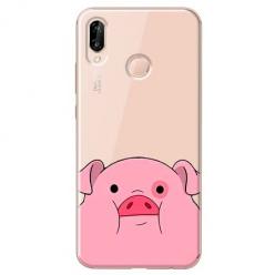 Etui na Huawei P20 Lite - Słodka różowa świnka.
