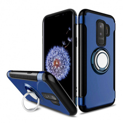 Etui na Samsung Galaxy S9 - Pancerne Magnet Ring - Granatowy.
