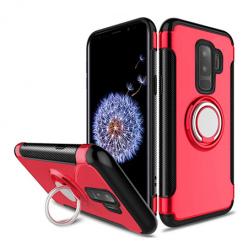 Etui na Samsung Galaxy S9 Plus - Pancerne Magnet Ring - Czerwony.