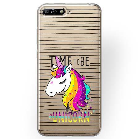 Etui na Huawei Y6 2018 - Time to be unicorn - Jednorożec