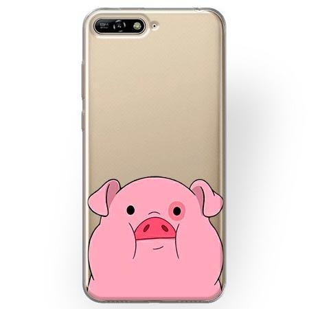 Etui na Huawei Y6 2018 - Słodka różowa świnka
