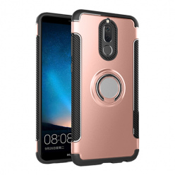 Etui na Huawei Mate 10 Lite - Pancerne Magnet Ring - Różowy.