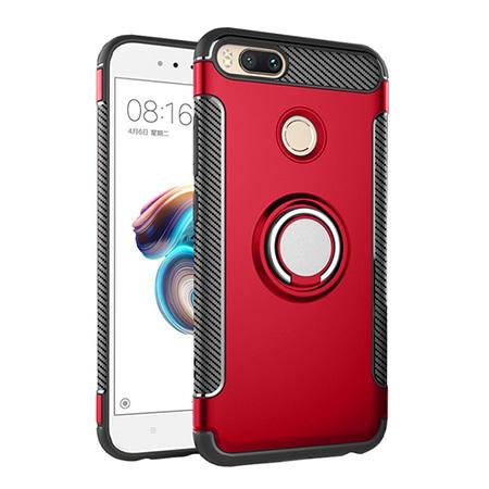 Etui na Xiaomi Mi A1 - Pancerne Magnet Ring - Czerwony.
