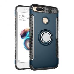 Etui na Xiaomi Mi A1 - Pancerne Magnet Ring - Niebieski stalowy.