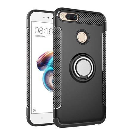 Etui na Xiaomi Mi 5x - Pancerne Magnet Ring - Czarny.