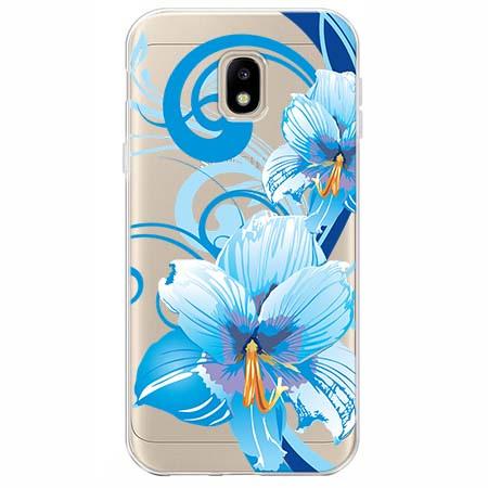 Etui na Samsung Galaxy J3 2017 - Niebieski kwiat północy.