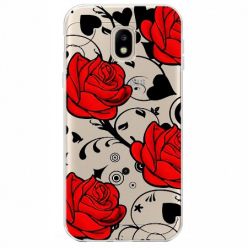 Etui na Samsung Galaxy J3 2017 - Czerwone róże.