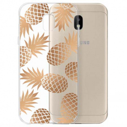 Etui na Samsung Galaxy J3 2017 - Złote ananasy