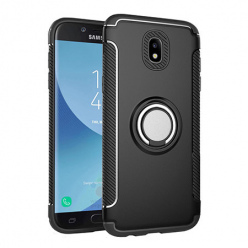 Etui na Samsung Galaxy J5 2017 - Pancerne Magnet Ring - Czarny.